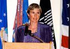Circe Woessner at the NCOA graduation