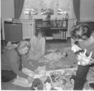 American officers' wives making dolls. Former occupants made shrunken heads and lampshades from tattooed human skin.