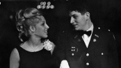 Phyllis Zimbler and Mitchell Miller at the Coronation Ball at Michigan State University on Saturday, November 18, 1967, sponsored by the Cadet Officers Club and the Arnold Air Society.
