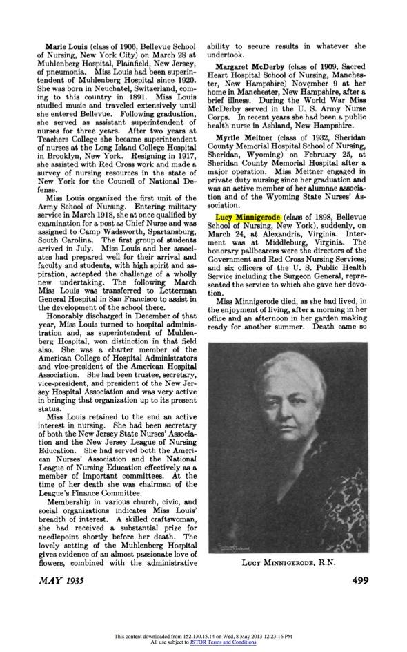 1935_05_Minnigerode obit_AJN Vol35 No5 p499 3412966-cropped