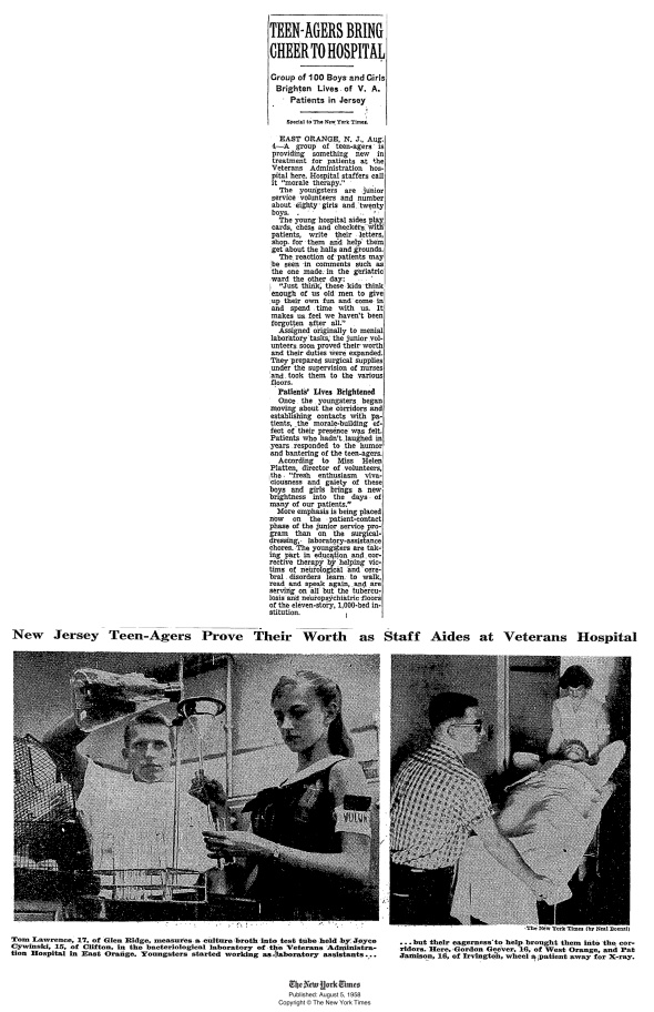 1958_Teen volunteers_East Orange_NYT110080781