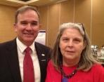 Caroline and Secretary Tim Hale