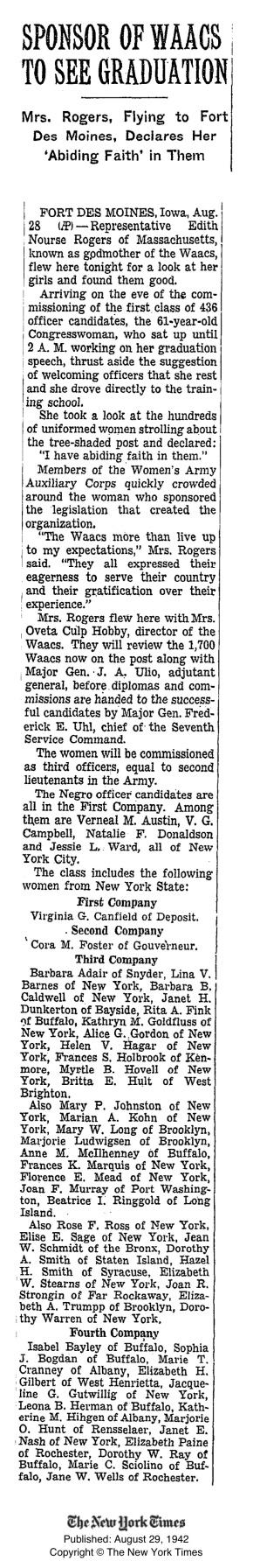 1942_EdithNourseRogers_WAACsGodmother_NYT85583747