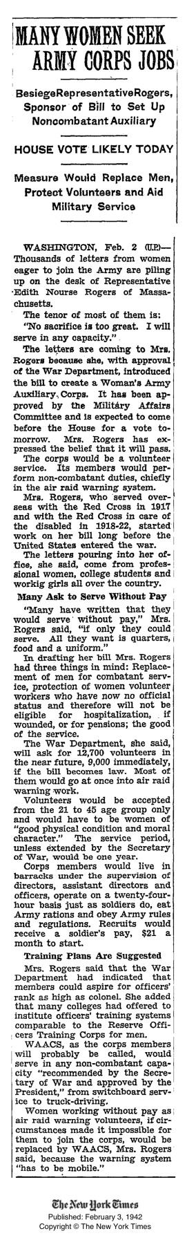 1942_EdithNourseRogers_WomenArmyCorps_NYT85221579