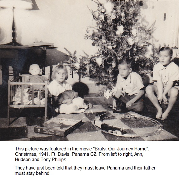 Christmas 1941_Ft Davis Panama Canal_Ann_Bill_Hudson